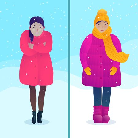 Avoiding hypothermia and frostbite concept