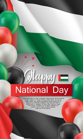 Happy arabic national day greeting card