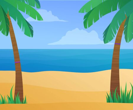 Summertime exotic beach vacation banner. Illusztráció