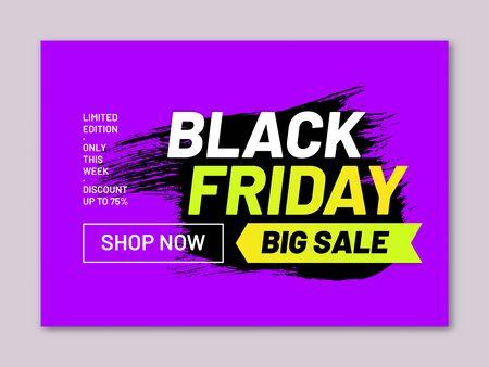 Black Friday big sale web banner Illusztráció