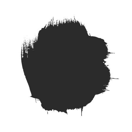 Black paintbrush stroke isolated on white Illusztráció