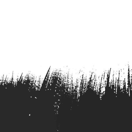 Abstract design with black paintbrush Illusztráció