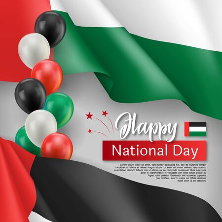 Happy arabic national day festive poster