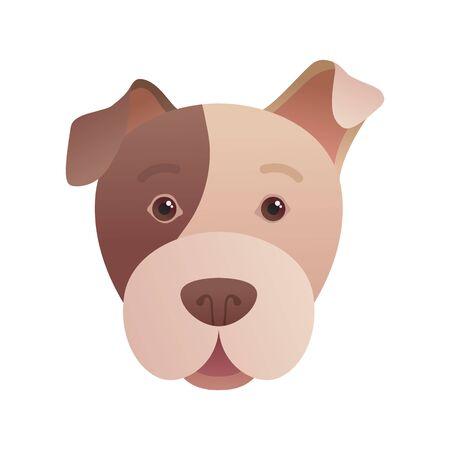 Funny dog head icon in cartoon style. Illusztráció