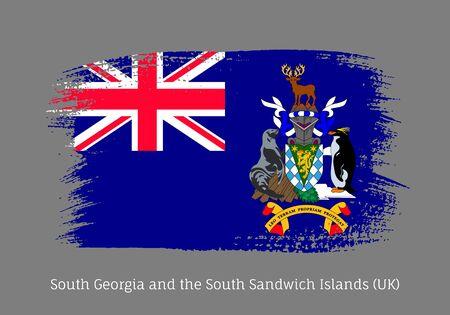 South Georgia island official flag Illusztráció