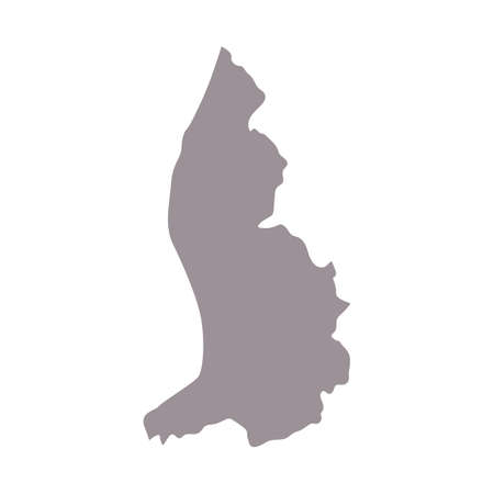 Liechtenstein blank map silhouette. High detailed editable gray map with European country borders vector illustration on white background