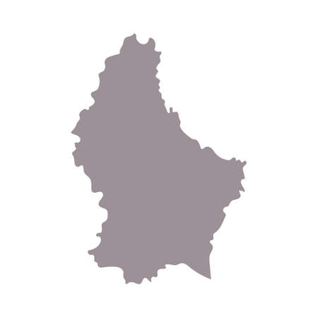 Luxembourg blank map silhouette. High detailed editable gray map of European country borders vector illustration on white background