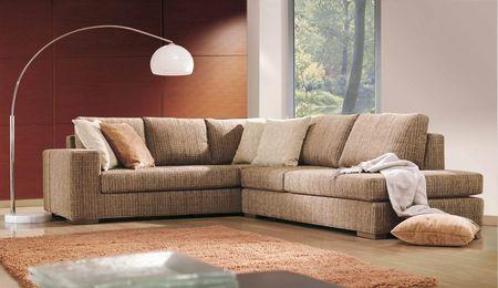 studio photo shoot of a modern living room  Stock Photo