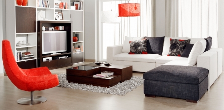 home furniture: modern living room