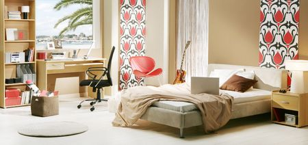 modern bedroom: teenager s room Stock Photo