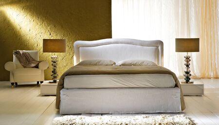 interior bedroom: new-classic bedroom Stock Photo