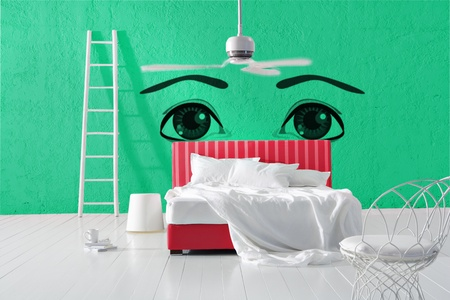 minimal eye bedroom photo