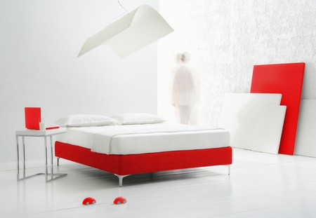 staying in shape: minimal futuristic bedroom