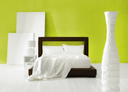 minimal colorful bedroom Stock Photo - 12521196