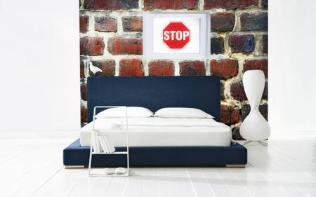 industrial bedroom photo