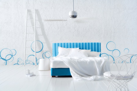 最小限の寝室 写真素材