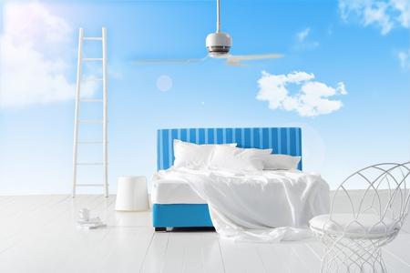 空のベッドルーム 写真素材