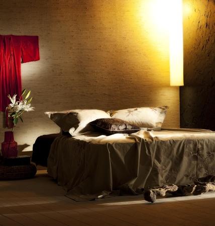 atmospheric bedroom Stock Photo