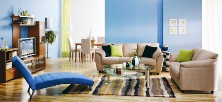 private room: modern colorful living room