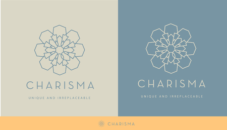 MINIMAL, LINE GEOMETRIC FLOWER , ELEGANT VECTOR LOGO DESIGN, BEAUTY DECORATIVE LOGO TEMPLATE, SPA Banque d'images - 109823827