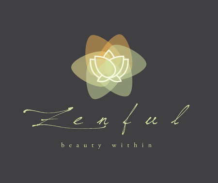 BEAUTIFUL LOTUS FLOWER VECTOR LOGO / SYMBOL DESIGN , SPA, YOGA, ZEN Banque d'images - 109823901