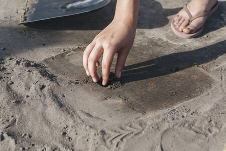findings: During the excavations the archeologist found something. Historically significant excavations. The findings of archaeologists.