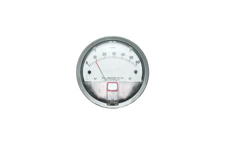 a device for measuring air pressure in the room. Isolated object old