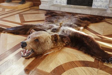 Scarecrow killed a bear on the floor