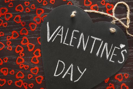 Grafiet bord met gefeliciteerd Valentijnsdag