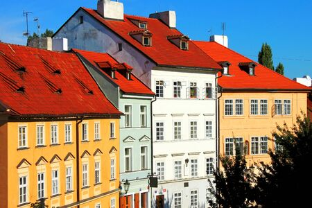 prague castle: Beautiful Czech colorful houses