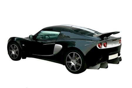 Isolated black sport car