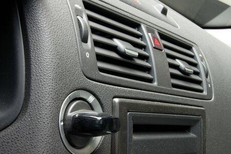 Inside interior of sport car. Dashboard  photo
