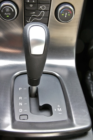 Gear shift handle in sport car photo