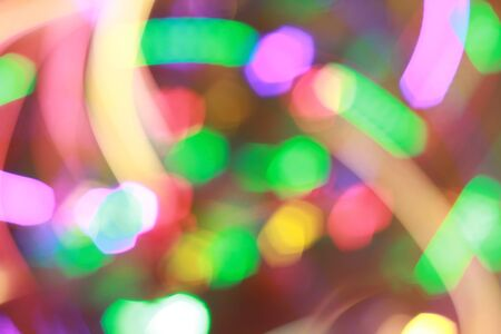 Bright colorful new year lights. Abstraction background photo