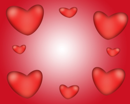 love wallpaper: Abstract background of bright red hearts. Valentine day.