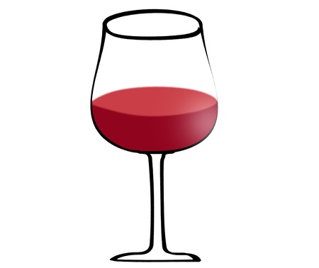 port wine: Illustration of red wine in glass isolated on white background Illustration