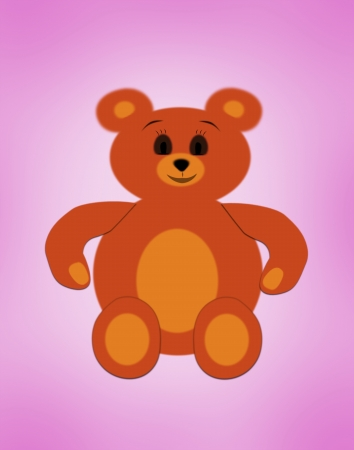 stuffed animals: Fun happy bear toy  illustration