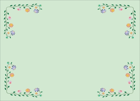Vector flower classic colorful spring frame illustration