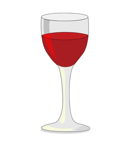 Glass of red wine isolated on white background Stock Vector - 14553743
