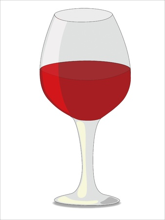 Big elegant glass of red wine isolated on white background Stock Vector - 14553749