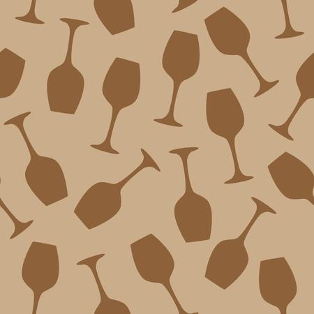 Glass of wine bar pattern seamless illustration
