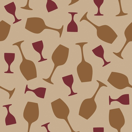 Glass pab bar design seamless illustration