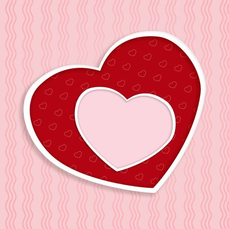 Girt card with hearts and empty space  Happy day Stock Photo - 17276998
