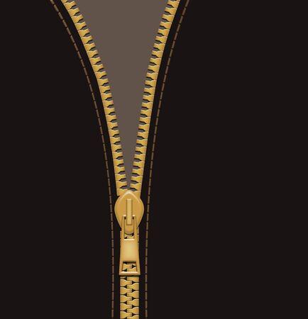 fastening: Zipper vintage color background
