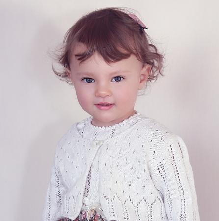 Beauty baby model smiling  Fashion art closeup portrait Stock Photo - 17631861
