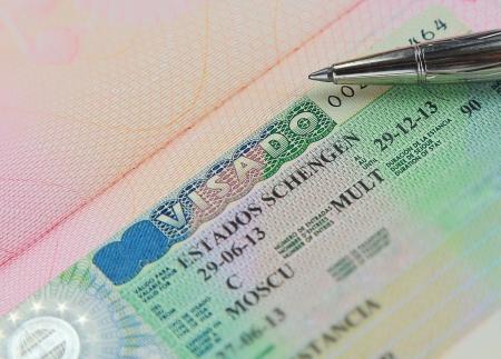 Schon Schengen Visum Im Paß Großansicht Makro, Österreich Schengen. Mit ...