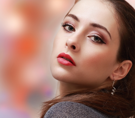 Sexy makeup woman with red lips Stock Photo - 24255575