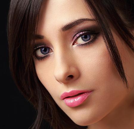 Sexy perfect makeup woman  Closeup