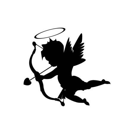 Black cupid B Valentine vector Foto de archivo - 137427879