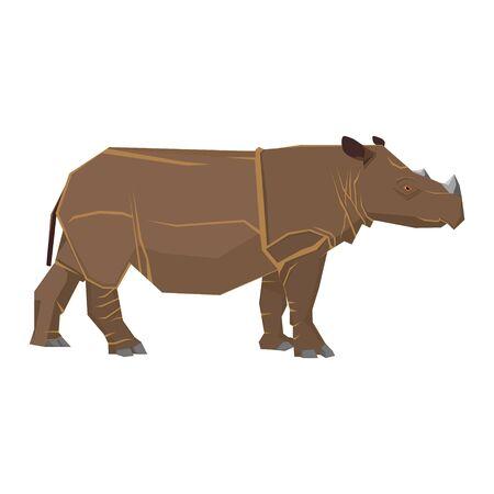 Rhinoceros is a conservation animal in Thailand Ilustração